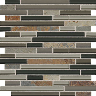 Daltile Fashion Accents Slate Radiance 5/8 x Random Mosaic Saddle