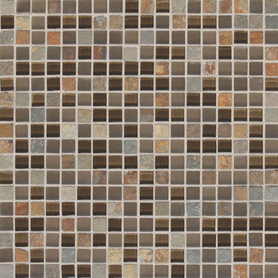 Daltile Fashion Accents Slate Radiance 5/8 x 5/8 Mosaic SA56 Saddle SA565858MS1P