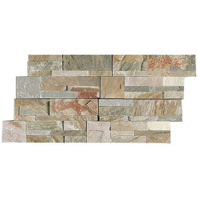 Daltile Slate Collection - Slate Stacked Stone Golden Sun S783 716STACK1T