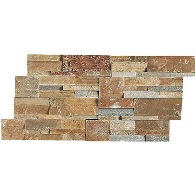 Daltile Slate Collection - Slate Stacked Stone Shanghai Rust S349 716STACK1T