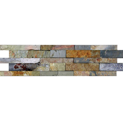 Daltile Slate Collection - Unique Shapes Kayla High-Low Mosaic Indian Multicolor