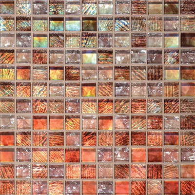 Daltile Soiree 1 x 1 Glass Mosaic Antigua F155 11MS1P