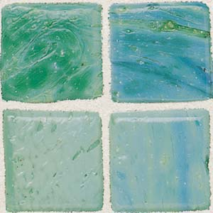 Daltile Sonterra Collection Mosaic Verde Opalized SR63 11MS1P