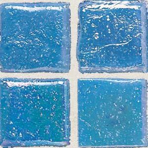 Daltile Sonterra Collection Mosaic Cancun Blue Iridescent SR70 11MS1P