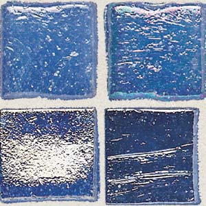 Daltile Sonterra Collection Mosaic Crystal Blue Iridescent SR71 11MS1P