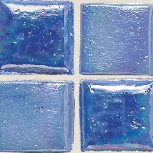 Daltile Sonterra Collection Mosaic Medium Blue Iridescent SR77 11MS1P