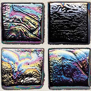 Daltile Sonterra Collection Mosaic Black Iridescent SR82 11MS1P