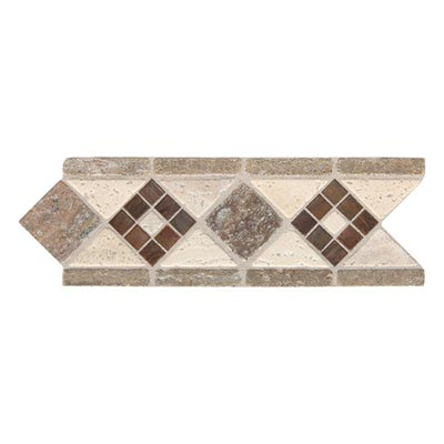 Daltile Fashion Accents Stone Combinations FA09 Burnished Honed Light FA09212DECO1P