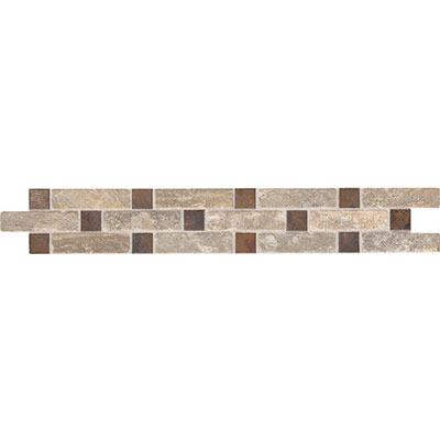 Daltile Fashion Accents Stone Combinations FA09 Burnished Tumbled Dark FA09212DECOC1P