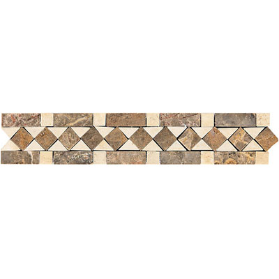 Daltile Fashion Accents Stone Combinations FA70 Honed Diamond FA70212DECO1P