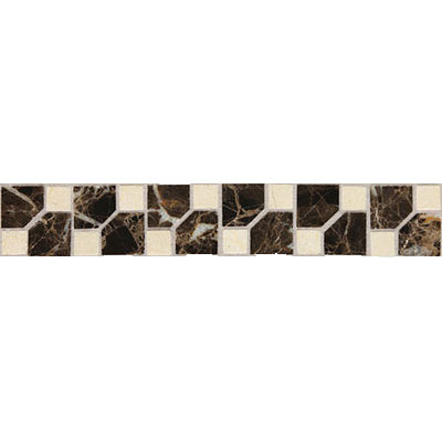 Daltile Fashion Accents Stone Combinations FA72 Jewel Dark FA72212DECO1P