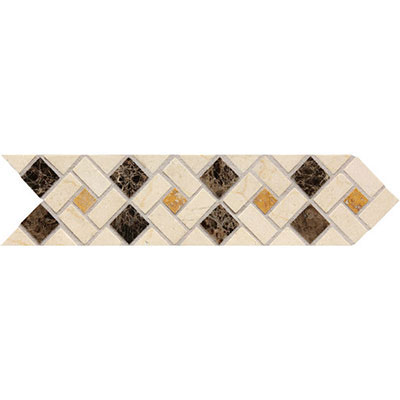 Daltile Fashion Accents Stone Combinations FA73 Pinwheel FA73312DECO1P