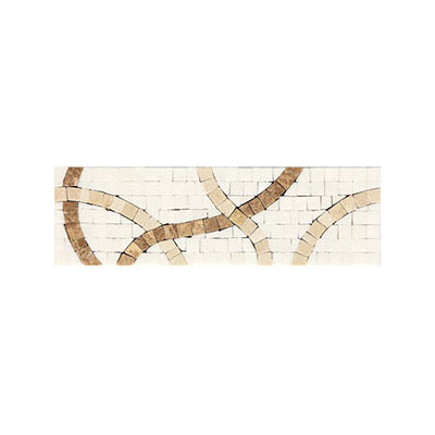 Daltile Fashion Accents Stone Combinations FA88 Crossroads White FA8839DECO1P