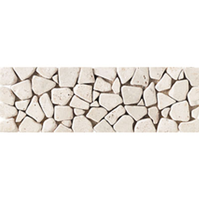 Daltile Stone Decorative Borders Baja Cream Pebble Tumbled