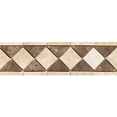 Daltile Stone Decorative Borders Sand Walnut Diamond
