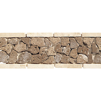 Daltile Stone Decorative Borders Walnut Pebble