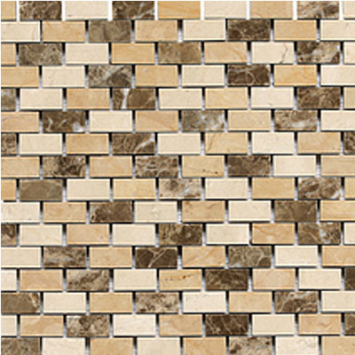 Daltile Stone Decorative Mosaics Adda Blend Brick Joint Polished DA83 121BJMS1L