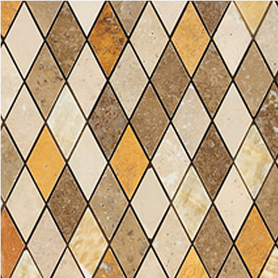Daltile Stone Decorative Mosaics Tevere Harlequin Blend Mosiac Polished and Honed DA82 13HARMS1P