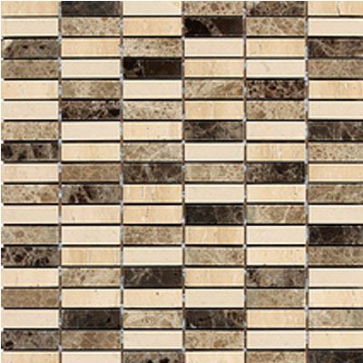 Daltile Stone Decorative Mosaics Ticino Stacked Joint Polished DA84 122MS1L