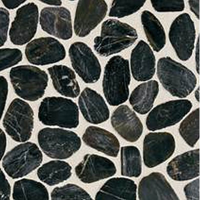 Daltile Stone Decorative Pebble Mosaics Black River Pebble Mosaic DA05 RIVRPEBMS1P