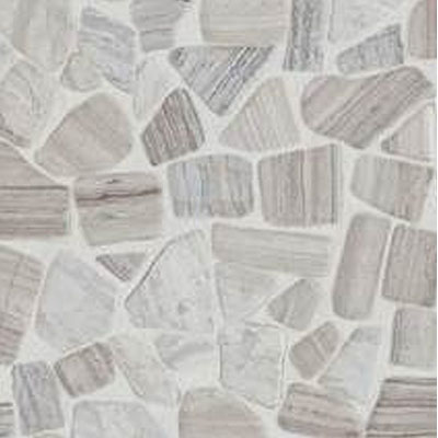 Daltile Stone Decorative Pebble Mosaics Chenille White