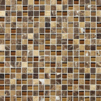 Daltile Stone Radiance Mosaic Butternut Emperador Blend SA60 5858MS1P