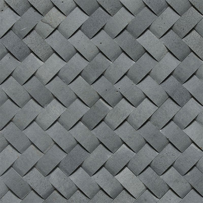 Daltile Stone A La Mod Mosaics Basketweave Honed Urban Bluestone