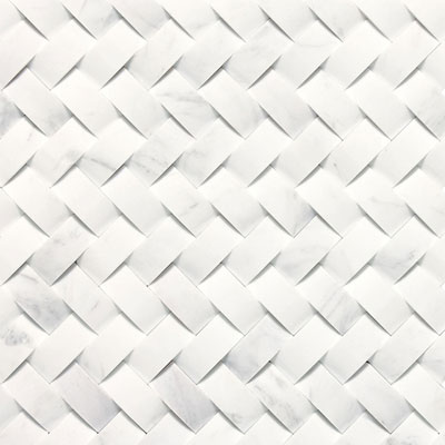 Daltile Stone A La Mod Mosaics Basketweave Honed Contempo White