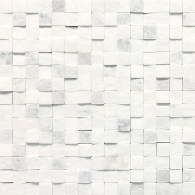 Daltile Stone a la Mod Mosaics High/Low Split Face - Contempo White M313 3434SFMS1S