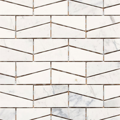 Daltile Stone a la Mod Mosaics Wedge Polished - Contempo White M313 23WDGMS1L