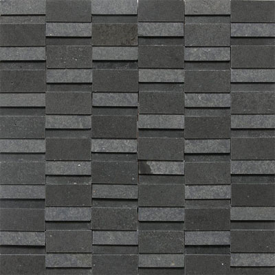 Daltile Stone a la Mod High/Low Random Polished & Honed Mosaic Urban Bluestone