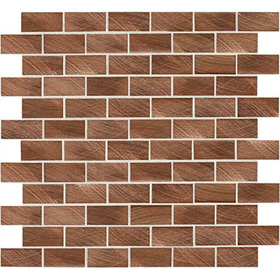 Daltile Structure Mosaics 1 x 2 Brick Joint Mosaic Copper