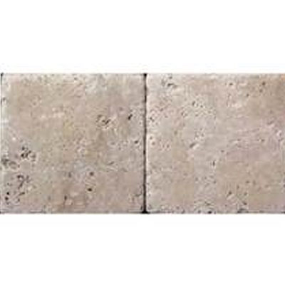 Daltile Travertine Builder Select 4 x 4 Ivory Classico Tumbled BE10 441P