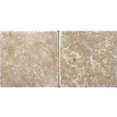 Daltile Travertine Builder Select 4 x 4 Light Noce Tumbled BE11 441P