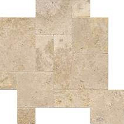 Daltile Travertine Builder Select Versailles Pattern Mendocino Versailles BE14 VERSPATT1N