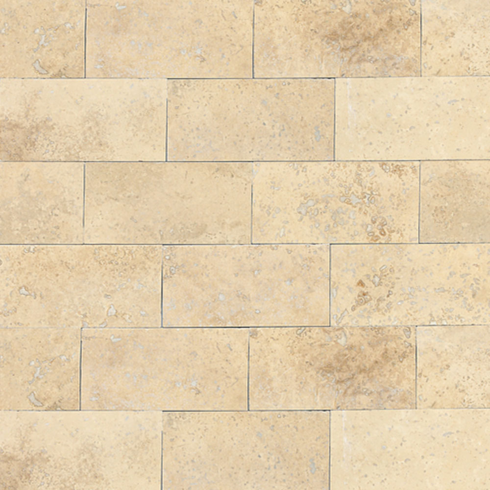 Daltile Travertine Natural Stone Honed 3 x 6 Mediterranean Ivory