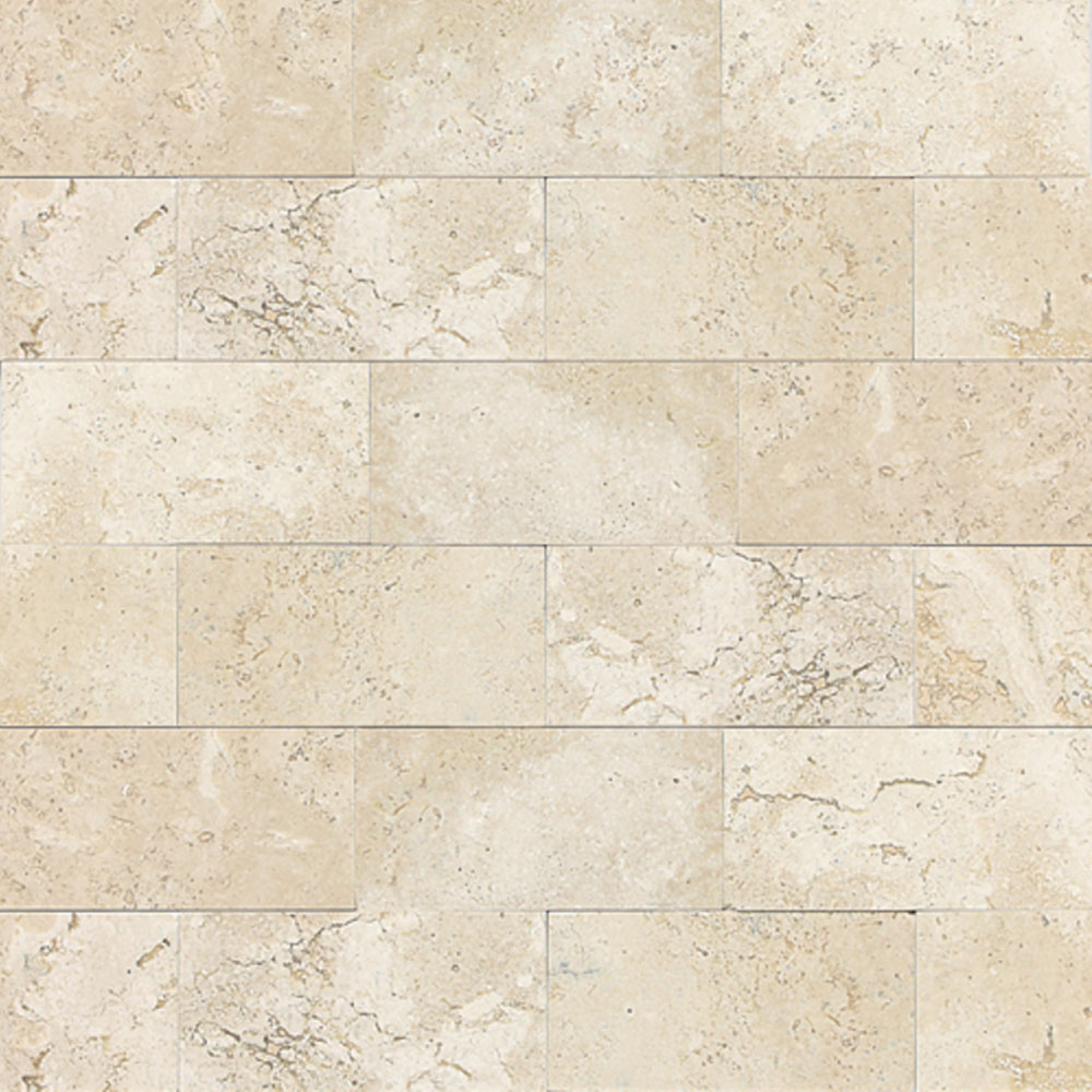 Daltile Travertine Natural Stone Polished 3 x 6 Baja Cream T720361L
