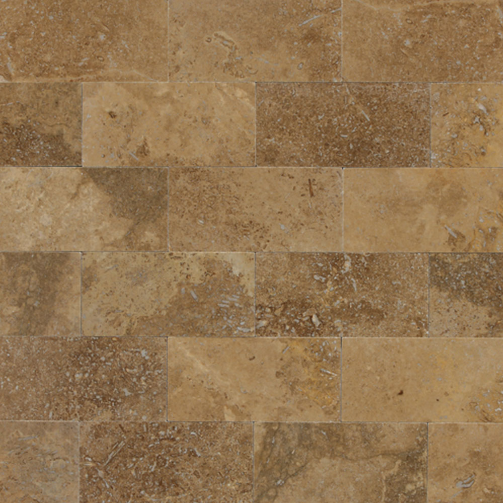 Daltile Travertine Natural Stone Polished 3 x 6 Noce T311361L
