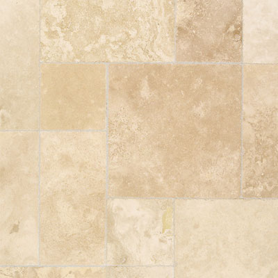 Daltile Travertine Chiseled Edge 9 x 9 Turco Classico T324 9912CE1U