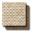 Travertine Natural Stone Polished Mosaics Brick Joint