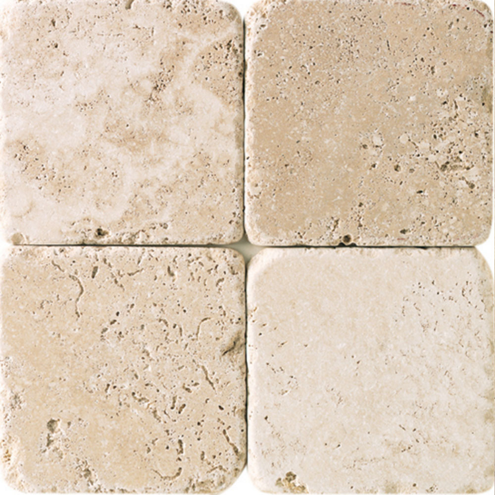 Daltile Travertine Natural Stone Tumbled 6 X 6 Tile