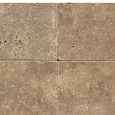Daltile Travertine Natural Stone Tumbled 12 x 12 Noce T311 1212TS1P