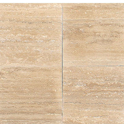 Daltile Travertine Natural Stone Polished 12 x 12 Torreon Dark Vein Cut