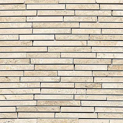 Daltile Travertine Natural Stone Mosaic Random Length Baja Cream T720