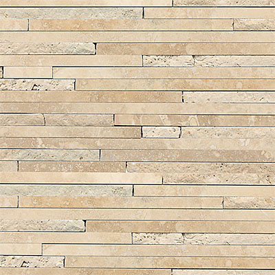 Daltile Travertine Natural Stone Mosaic Random Length Mediterranean Ivory T730