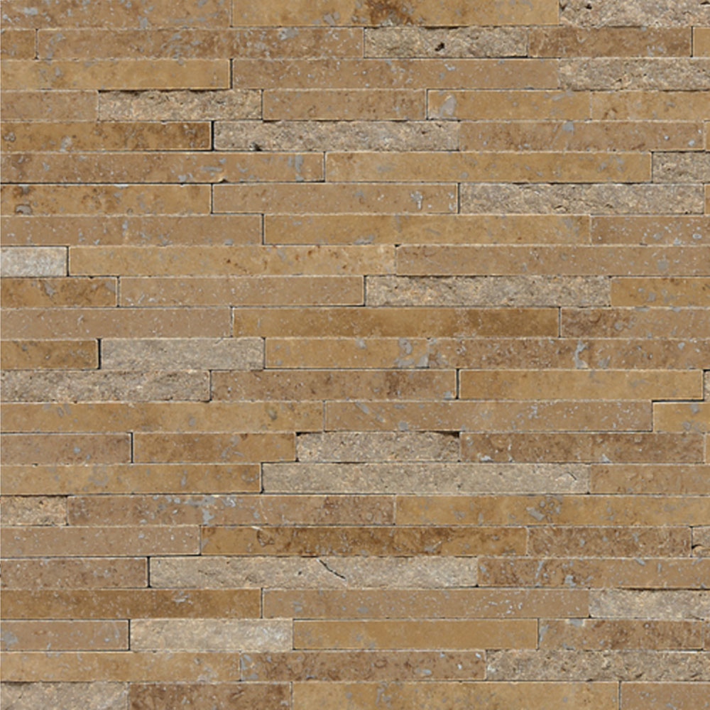 Daltile Travertine Natural Stone Mosaic Random Length Noce T311