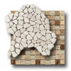 Travertine Natural Stone Unique Shapes Mosaic