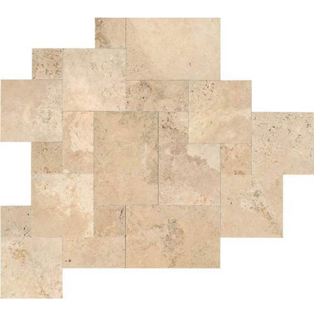 Daltile Travertine Natural Stone Versailles Pattern Turco Classico Blend