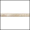 Daltile Tumbled Natural Stone 6 x 6 Pencil Rail Meditteranean Ivory (TS61)