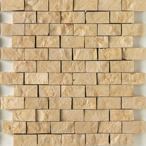 Daltile Baja Cream Split Face Mosaic 1 x 2 Baja Cream Split Face TS50 12SF1S